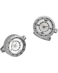 Jan Leslie Stainless Steel Watch Cufflinks - Multicolour