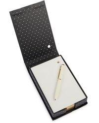 Kate Spade 2-piece Loose Note Holder & Pen Set - Black