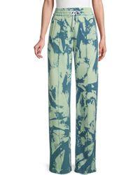 Off-White c/o Virgil Abloh Tie-dye Wide-leg Track Pants - Blue