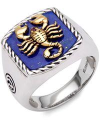 Effy 14k Goldplated Sterling Silver, Lapis Lazuli & Ruby Scorpion Ring - Metallic