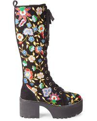 Alice + Olivia Raye Gloria Knee-high Platform Boots - Black