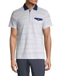 Saks Fifth Avenue Classic Striped Polo Shirt - Multicolour