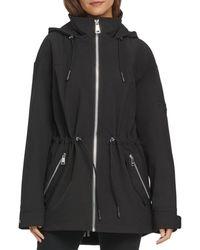 DKNY Women's Zip-front Softshell Jacket - Black - Size S