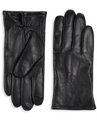 Saks Fifth Avenue Classic Leather Gloves - Brown