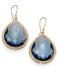 Ippolita Rock Candy Gelato London Blue Topaz, Diamond & 18k Yellow Gold Large Teardrop Earrings