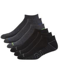 New Balance 6-pack Athletic Ankle Socks - Black