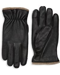 Saks Fifth Avenue - Textured Touch Tech Leather Gloves - Lyst