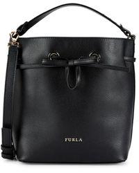 Furla Women's Costanza Leather Drawstring Bag - Nero - Black