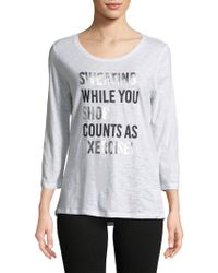 Marc New York - Sweating While You Shop Graphic Tee - Lyst