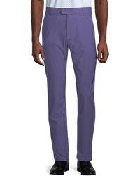 Greyson Men's Printed Trousers - Iris - Size 36 32 - Purple