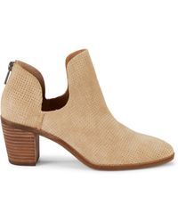 Lucky Brand Powe Suede Booties - Natural