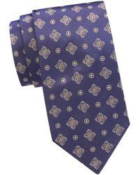 Eton Pattern Silk Tie - Blue