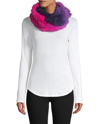 Jocelyn Ombre Rabbit Fur Infinity Scarf - Multicolour
