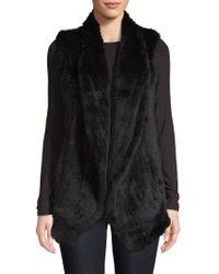 June - Shawl Rabbit Fur Vest - Lyst