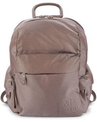 Mandarina Duck Medium Logo Backpack - Steel - Grey