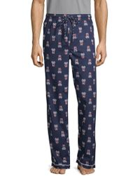 Psycho Bunny - Printed Woven Cotton Pajama Pants - Lyst