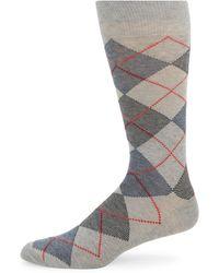 Saks Fifth Avenue Argyle Crew Socks - Multicolour