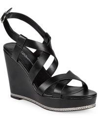 BCBGeneration Janice Wedge Sandal - Black