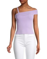 Alice + Olivia Women's Arletta Off-the-shoulder Top - Lavender - Size L - Purple