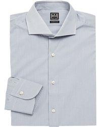 Ike Behar Modern-fit Check Dress Shirt - Gray