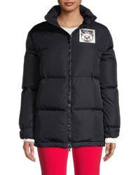 Moschino Women's Bear Label Puffer Jacket - Black - Size 36 (2)