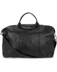 Longchamp - Large Le Pliage Leather Duffel Bag - Lyst