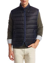 Saks Fifth Avenue Collection Quilted Zippered Vest - Multicolour