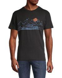 Vestige Sunset Mountain Cotton T-shirt - Black