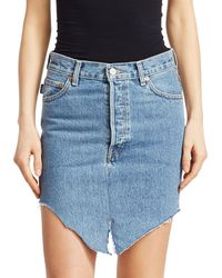 Vetements Asymmetric Side-cut Denim Skirt - Blue