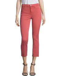 J Brand - Ruby High-rise Crop Twill Skinny Jeans - Lyst