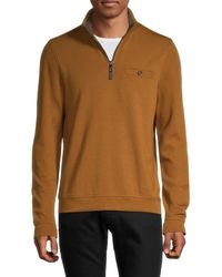 Ted Baker Men's Half-zip Pullover - Tan - Size 3 (m) - Brown