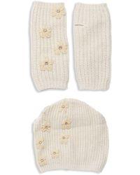 Portolano 2-piece Embellished Beanie & Gloves Set - Multicolour