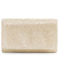 La Regale Women's Glitter Clutch - Gold - Metallic
