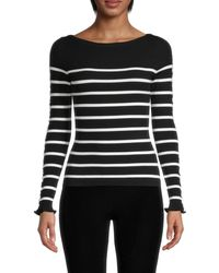 Bailey 44 Women's Alana Stripe Jumper - Black Multi - Size M