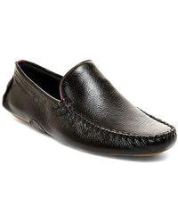 Steve Madden - Leather Slip-on Moccasins - Lyst