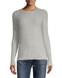Zadig & Voltaire - Jane Pointelle Deluxe Cashmere Sweater - Lyst