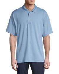 PGA TOUR Micro Textured Polo - Blue