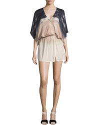 Young Fabulous & Broke - Viv Short Suplice Dress - Lyst