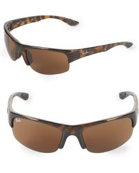 Ray-Ban - 62mm Rectangle Wrap Sunglasses - Lyst