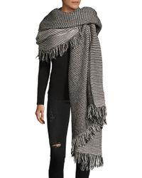Donni Charm - Bundle Stripe Cotton Oversized Scarf - Lyst