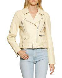 Walter Baker Flissy Leather Jacket - Multicolour