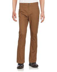 Perry Ellis Slim-fit Five-pocket Trousers - Brown