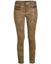 Etienne Marcel Women's Leopard Skinny Jeans - Camel Tan - Size 26 (2-4) - Natural