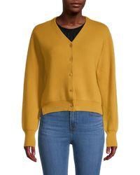 The Row Nesta Merino Wool & Cashmere Cardigan Sweater - Yellow