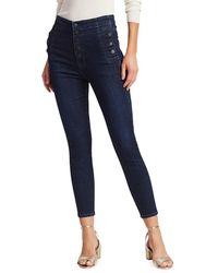 J Brand Natasha Sky High-rise Crop Skinny Jeans - Blue