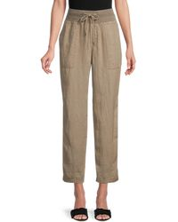 James Perse Cropped Trousers - Natural