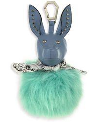 Kendall + Kylie Bambi Faux Fur Dog Bag Charm - Blue