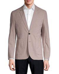 Paul Smith Standard-fit Mini Check Blazer - Natural