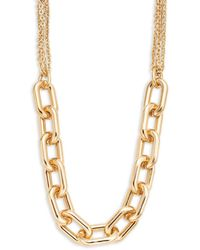 Panacea Chainlink Goldtone Necklace - Metallic
