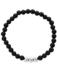 Effy Onyx & Meteorite Bead Bracelet - Black